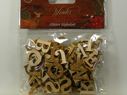 Hobbycraft - Winter Woodland - Glitter Alphabet