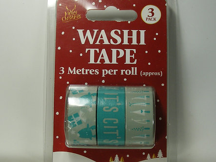 Merry Christmas Washi Tape 3 Pack.