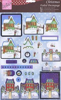 Anita's - Christmas Foiled Decoupage - At Home For Christmas.