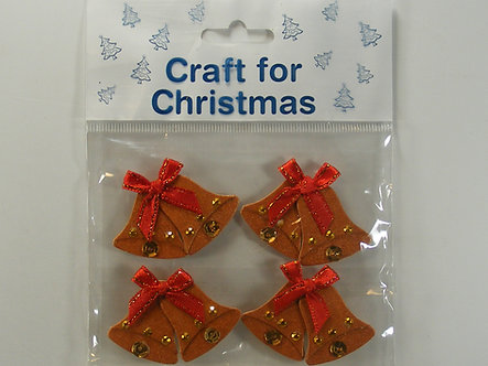 Craft For Christmas - Bells Toppers (4pk)