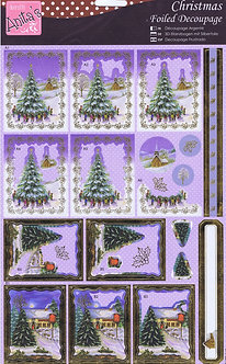 Anita's - Christmas Foiled Decoupage - Christmas Village.