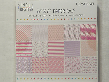 """Simply Creative - Flower Girl 6"""" x 6"""" Paper Pad"""