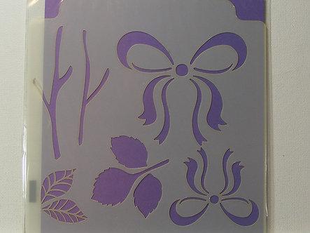 Kanban - Bows & Leaves Stencil.