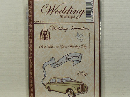 Crafts UK - Just Married Rubber Stamp