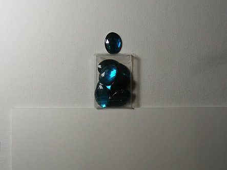 PaperCellar - Blue Turquoise Large Oval Gems.