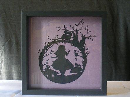 Alice In Wonderland Silhouette Papercut