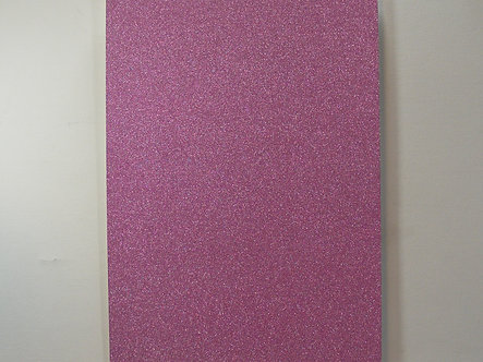 A4 Soft Touch Glitter Card - Lilac.