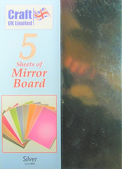Craft UK - A4 Mirror Board Silver.
