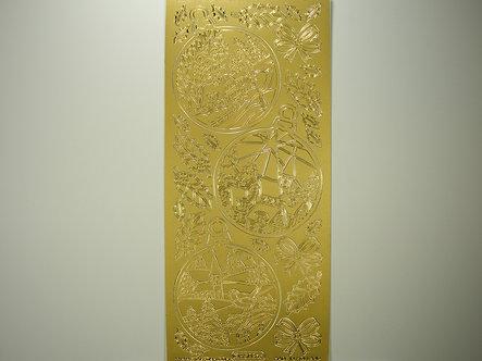 Starform - Christmas Peel Offs - Baubles (Gold)