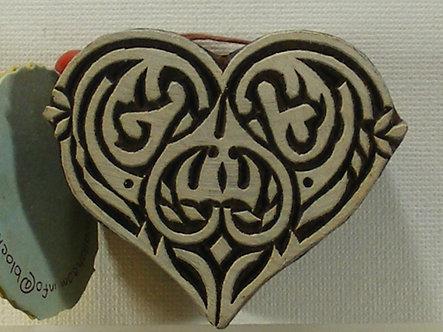 Block Wallah - Tribal Heart Stamp