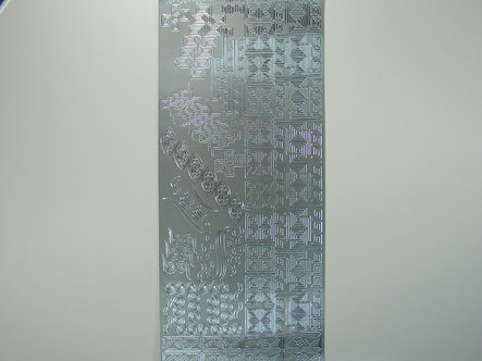 Craftstyle - Christmas Peel Off Borders (Silver)