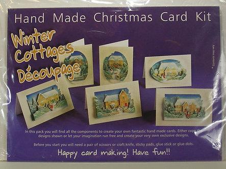 Winter Cottages Decoupage Handmade Card Kit