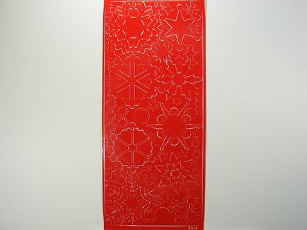 Christmas Peel Offs - Snowflakes & Stars (Red)