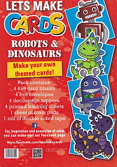 Craftstyle - Lets Make Cards - Robots & Dinosaurs