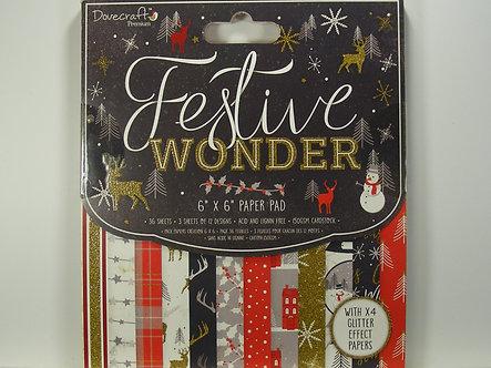 "Dovecrafts - Festive Wonder 6"" x 6"" Paper Pad"