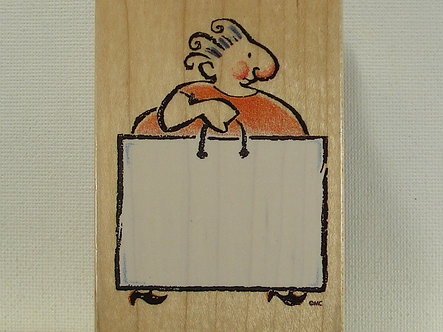 All Night Media - Shopping Lady Wood Mounted Rubber Stamp