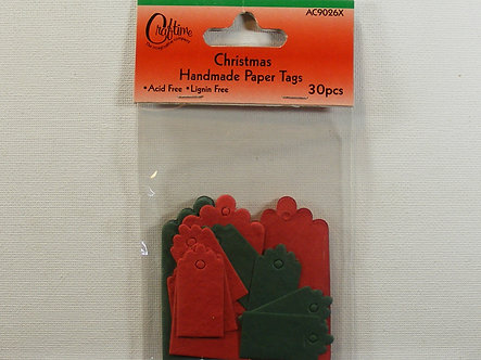 Craftime - Christmas Handmade Paper Tags