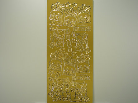 Goldlabel - Christmas Peel Offs - Christmas Puds (Gold)