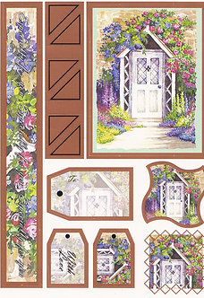 Country Cottage Door A5 Topper & Tags Sheet