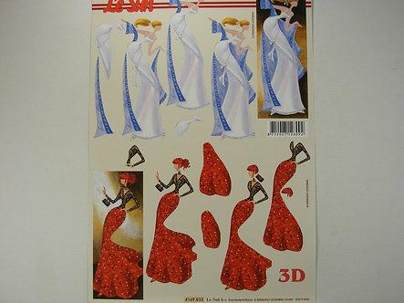 Le Suh 3D Decoupage - Glamorous Ladies.