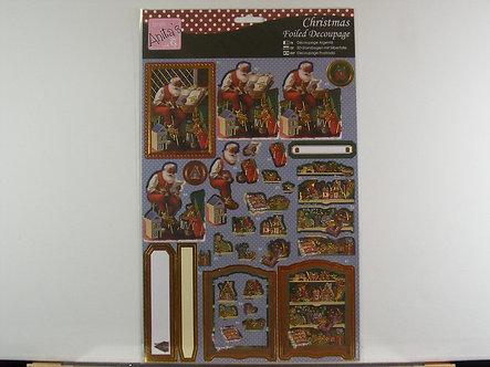 Anita's - Christmas Foiled Decoupage - Santa's List.