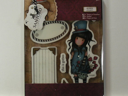 Santoro - The Hatter Rubber Stamps
