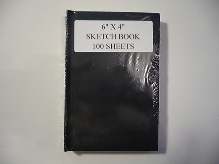 "6"" x 4 "" 100 Sheet Sketch Book."