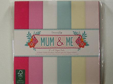 """Dovecraft - Mum & Me 6"""" x 6"""" Paper Pad"""