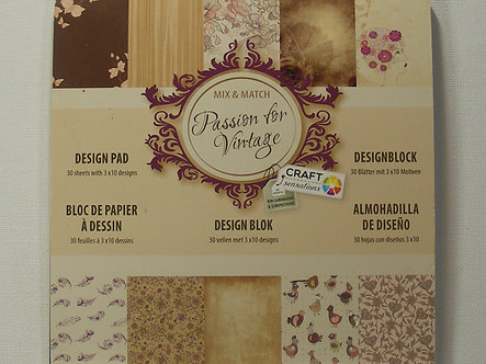 "Craft Sensations - Passion For Vintage 6"" x 6"" Paper Pad"