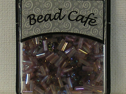 Bead Cafe - Lilac Glass Bugle Beads 6mm