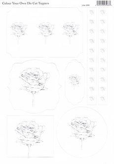 Colour Your Own Topper Sheet - Roses