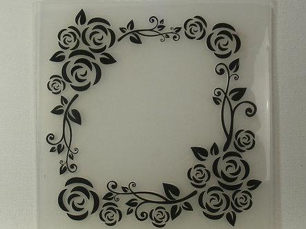 """6"""" x 6"""" Floral Frame Embossing Folder"""