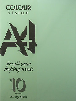 Craft UK - Colour Vision LeafBird Green Card.