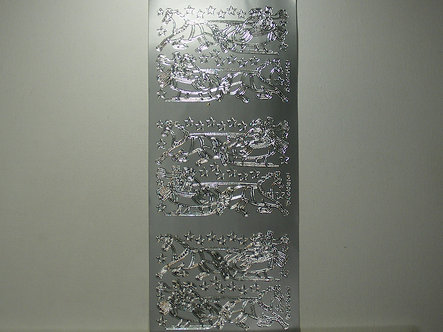 Goldlabel - Winter Sleigh Ride Peel Offs (Silver)