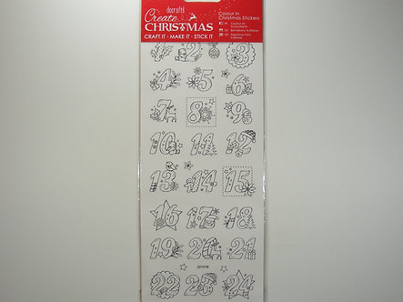 Docrafts - Create Christmas Colour In Advent Numbers