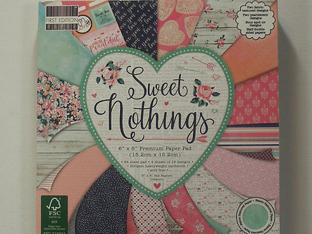 """First Edition - Sweet Nothings 6"""" x 6"""" Premium Paper Pad."""