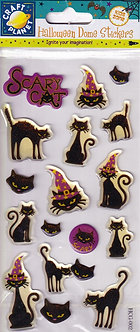 Craft Planet - Halloween Dome Stickers - Scary Cat