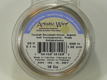 Beadalon - Artistic Wire - 18 Gauge Tranish Resistant Silver