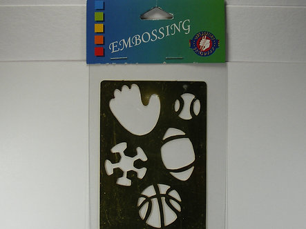 Darice Creative Collection - Embossing Stencil - Sports