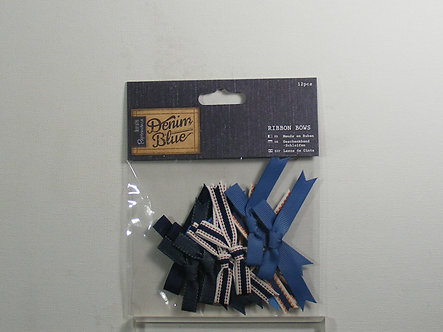 Docrafts Papermania - Denim Blue Large Ribbon Bows.