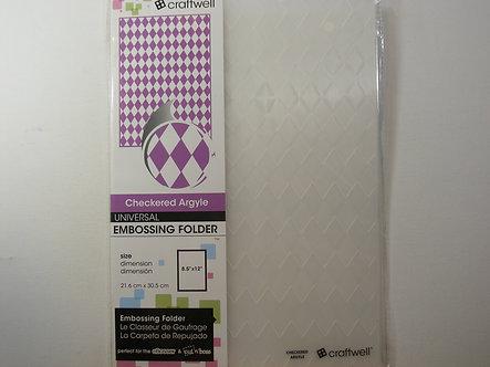 Craftwell A4 Embossing Folder - Checkered Argyle