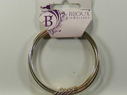 Hobbycraft - Bijou Jewellery - Silver Plated Bangle With Rings
