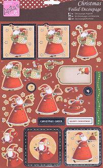 Anita's - Christmas Foiled Decoupage - Christmas Cheer.