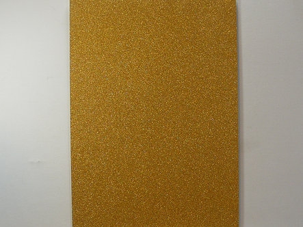 A4 Soft Touch Glitter Card - Gold.
