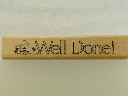 Anita's - Well Done! Mounted Rubber Stamp