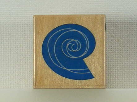 Docrafts - Whispers Rubber Stamp - Blue Snail Shell