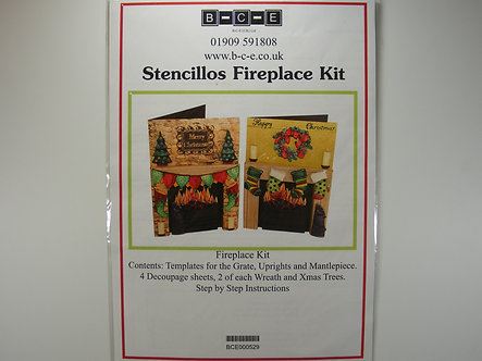 B-C-E Stencillos Fireplace Kit