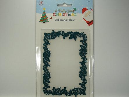 Hobbycraft - A Holly Jolly Christmas  Wreath Frame Embossing Folder