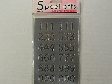 GCS Craft Stickers - Peel Off Numbers.