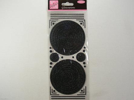 Anita's - Glitterations - Circle Frames (Black).